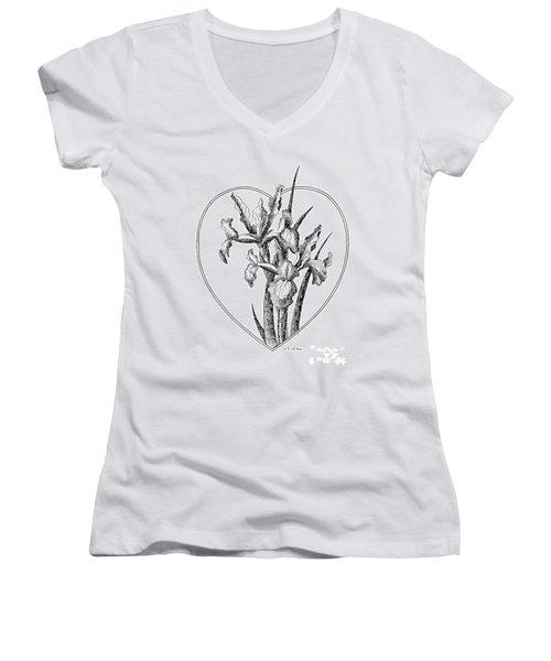Iris Heart Drawing 3 Women's V-Neck