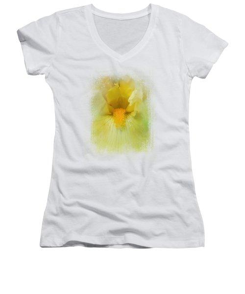 Iris In Lime Women's V-Neck T-Shirt