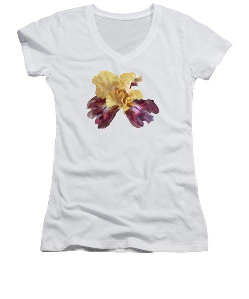 Iris T Shirt Women's V-Neck T-Shirt (Junior Cut) by Nancy Pauling