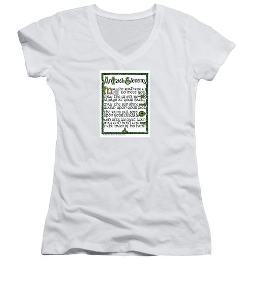 Irish Blessing Women's V-Neck