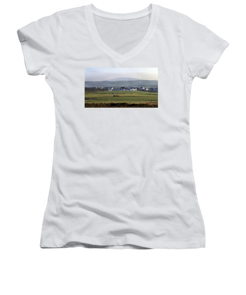 Irish Sheep Farm II Women's V-Neck T-Shirt
