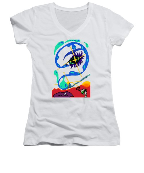 iseeU Women's V-Neck T-Shirt