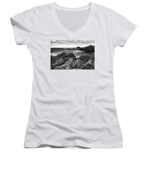 Island Women's V-Neck T-Shirt (Junior Cut) by Hayato Matsumoto