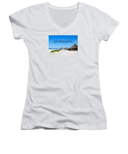 Island Time Women's V-Neck T-Shirt