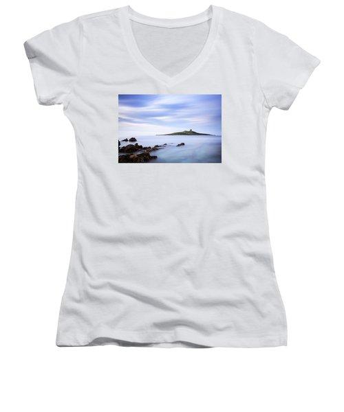 Isola Delle Femmine Women's V-Neck T-Shirt (Junior Cut) by Ian Good