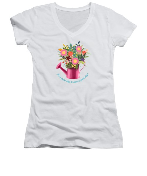 It Is A Good Day To Have A Good Day Women's V-Neck (Athletic Fit)