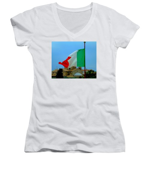 Italian Colors Women's V-Neck (Athletic Fit)