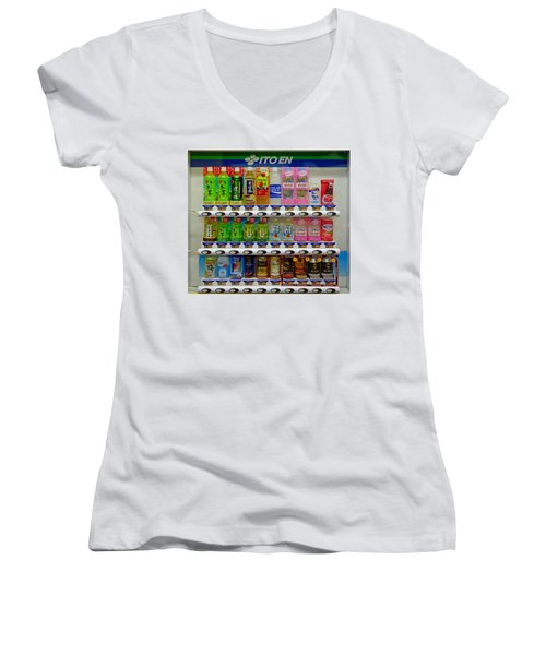 Ito En Vending Women's V-Neck T-Shirt
