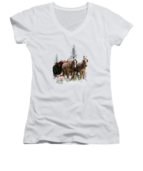 A Christmas Wish Women's V-Neck (Athletic Fit)