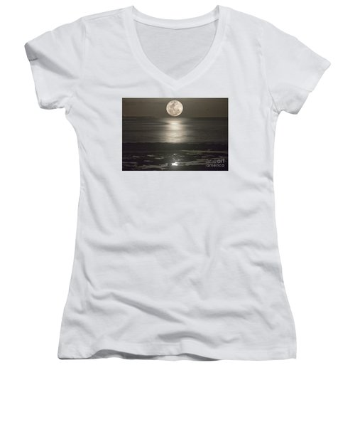 Its Not Just Sunsets Women's V-Neck T-Shirt (Junior Cut) by Bob Hislop