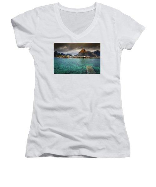 It's Not The Caribbean Women's V-Neck T-Shirt (Junior Cut) by Alex Conu