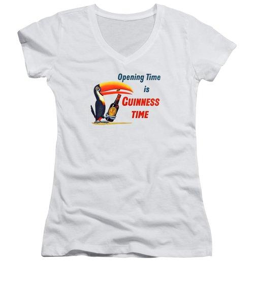 It's Opening Time Women's V-Neck T-Shirt