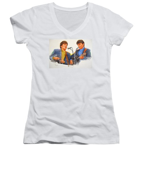 Its Rock And Roll 4  - Everly Brothers Women's V-Neck