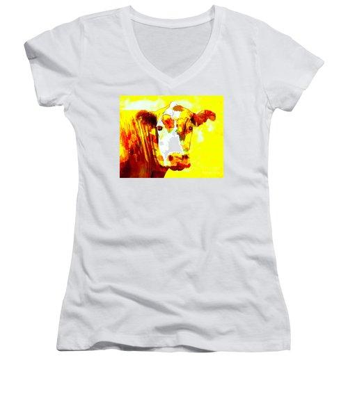 Yellow Cow Women's V-Neck