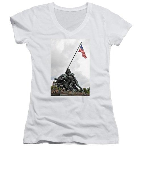 Iwo Jima Memorial Women's V-Neck