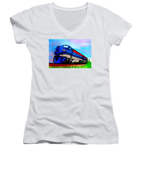 Jacob The Train Women's V-Neck (Athletic Fit)