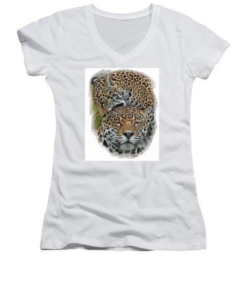 Jaguar Affection Women's V-Neck