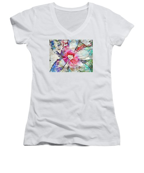 Japanese Magnolia  Women's V-Neck T-Shirt