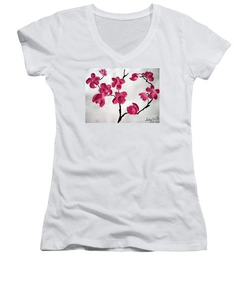 Japanese Tree Women's V-Neck (Athletic Fit)