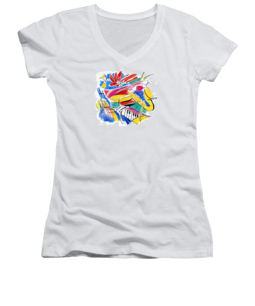 Jazz Art Women's V-Neck
