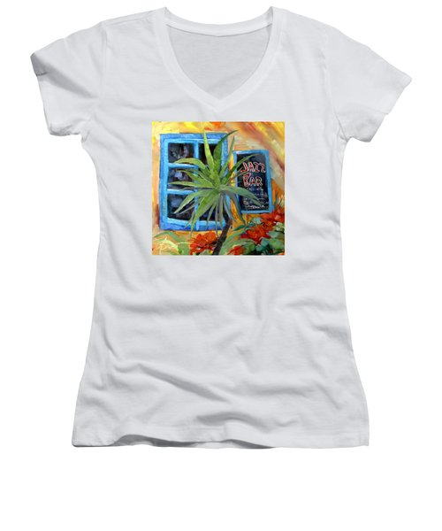 Jazz Bar In Santorini Women's V-Neck