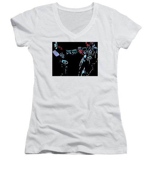 Jazz Duo Women's V-Neck T-Shirt