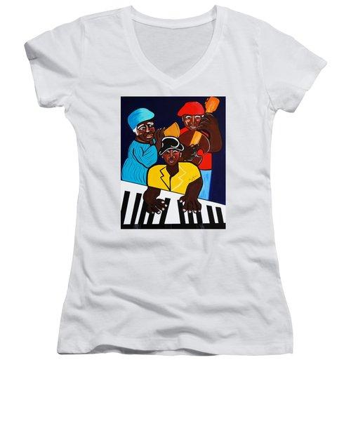 Jazz Sunshine Band Women's V-Neck T-Shirt
