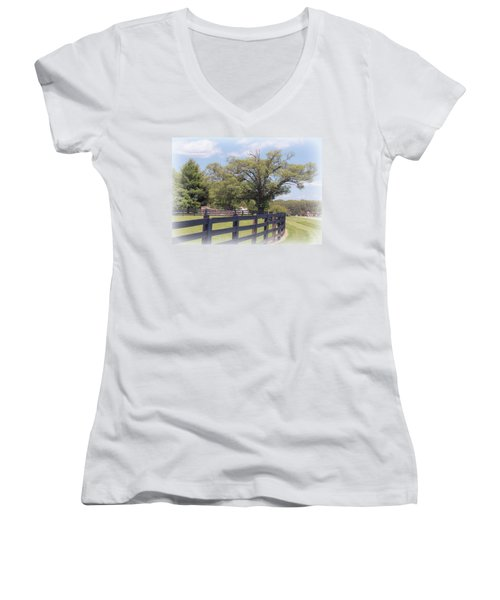 Jefferson Landing Series No. 1 Women's V-Neck T-Shirt