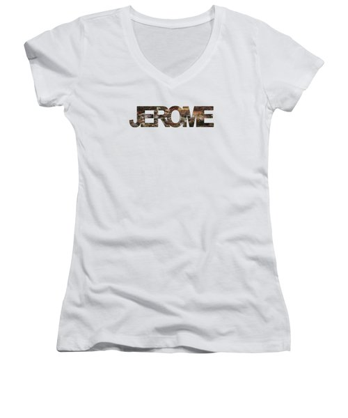 Jerome Women's V-Neck T-Shirt (Junior Cut) by Priscilla Burgers