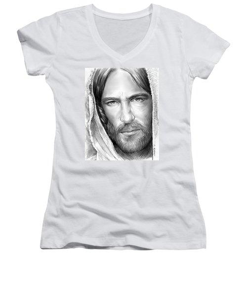 Jesus Face Women's V-Neck