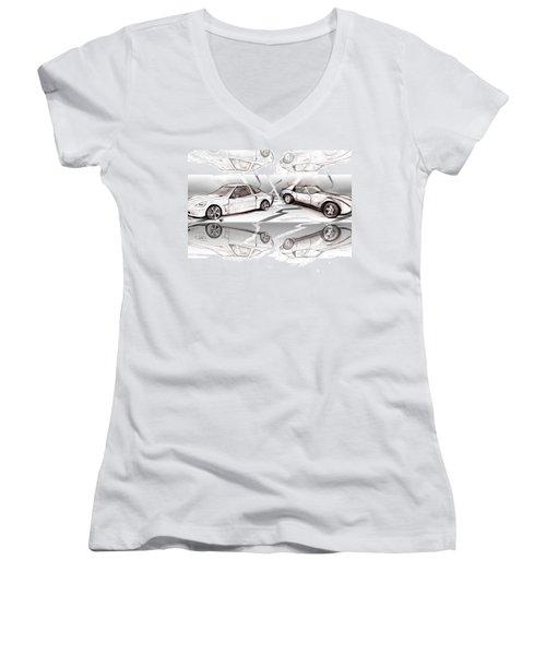 Jet Mikes Cars Women's V-Neck T-Shirt