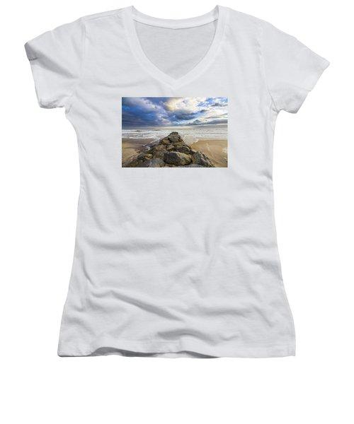 Jetty Four Cloudscape Women's V-Neck T-Shirt