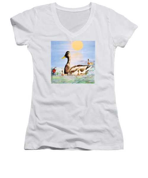 Jhot Summer Day Women's V-Neck (Athletic Fit)