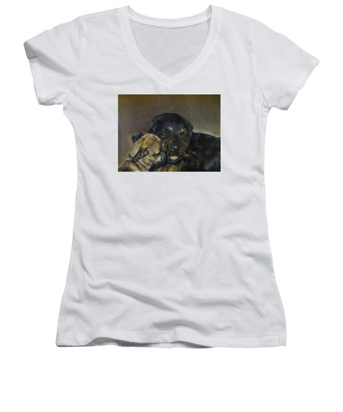 Jim And Ozzy Women's V-Neck (Athletic Fit)