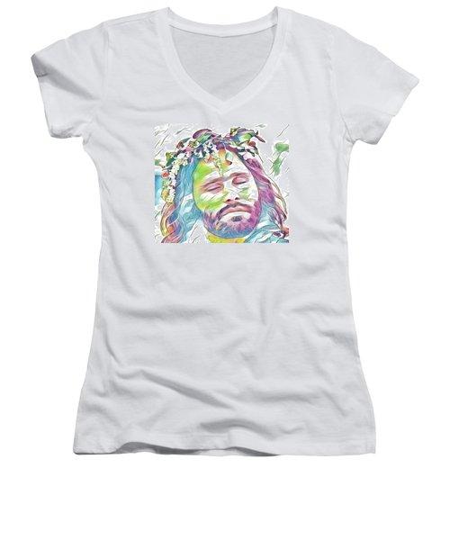 Jim Morrison Women's V-Neck
