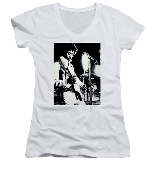 Jimmy Hendrix Purple Haze Women's V-Neck T-Shirt