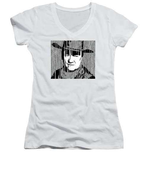 John Wayne Cowboy Huge Print Women's V-Neck