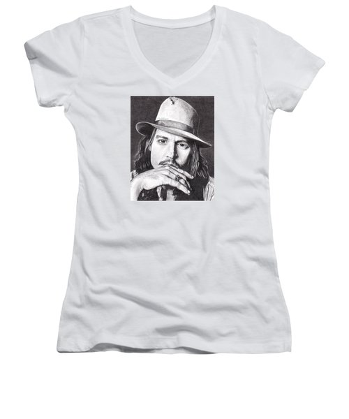 Johnny Depp Women's V-Neck (Athletic Fit)
