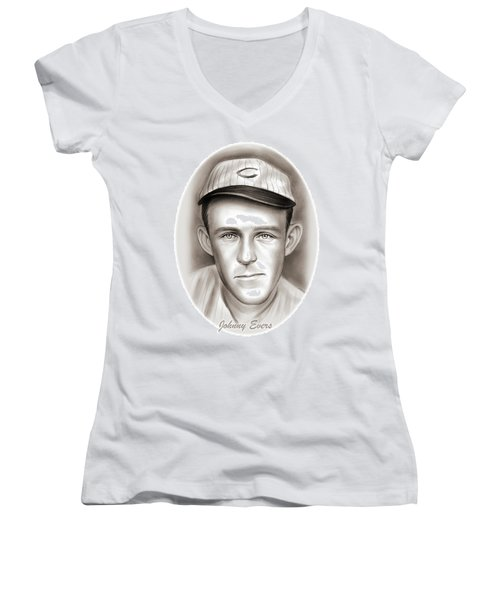 Johnny Evers Women's V-Neck (Athletic Fit)
