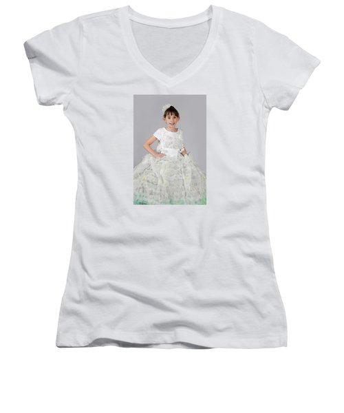 Josette In Dryer Sheet Dress Women's V-Neck