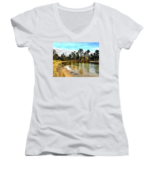 Journey To The Rivers Bend Women's V-Neck T-Shirt