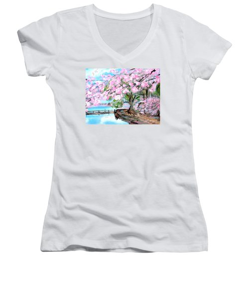 Joy Of Spring. For Sale Art Prints And Cards Women's V-Neck (Athletic Fit)
