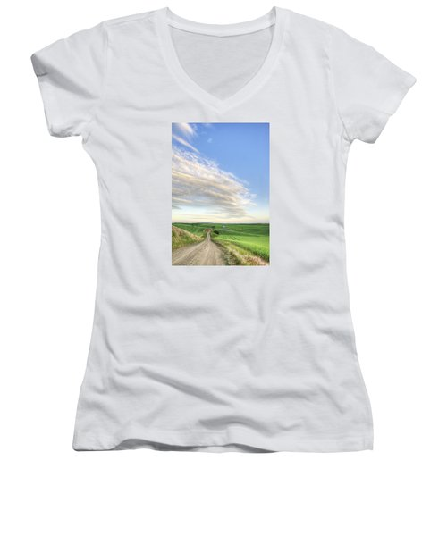 June Afternoon Women's V-Neck T-Shirt