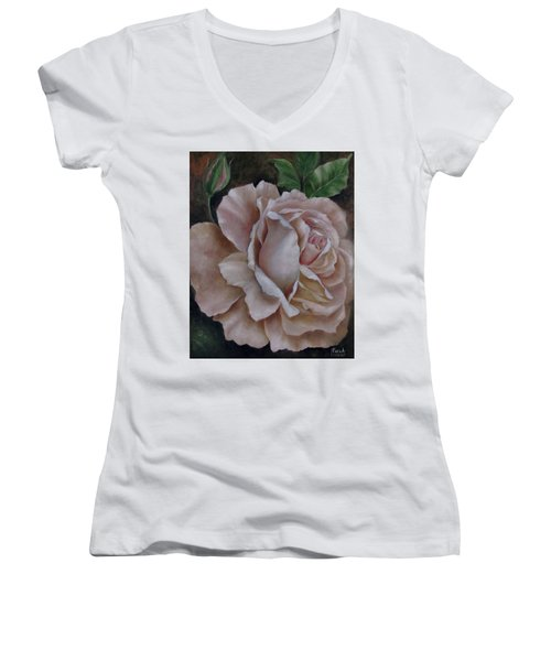 Just A Rose Women's V-Neck (Athletic Fit)