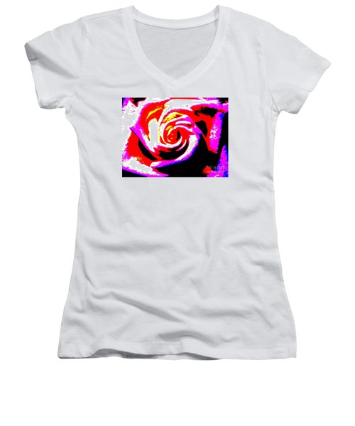 Just A Rose Women's V-Neck T-Shirt