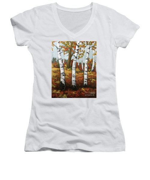 Just Birches Women's V-Neck