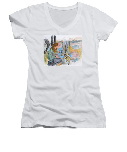 Just One More Women's V-Neck T-Shirt (Junior Cut) by Clyde J Kell