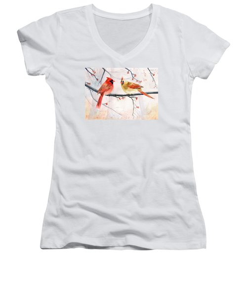 Just The Two Of Us Women's V-Neck T-Shirt
