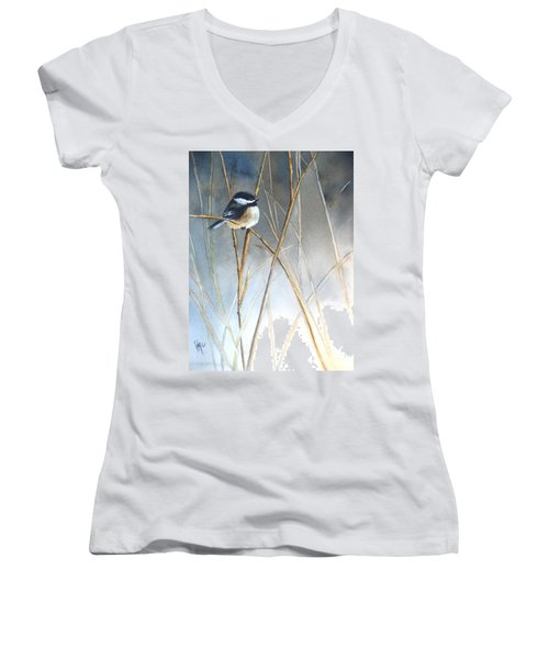 Just Thinking Women's V-Neck T-Shirt