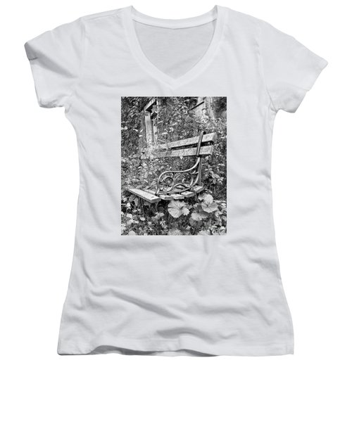 Women's V-Neck T-Shirt (Junior Cut) featuring the photograph Just Yesterday by Tom Cameron